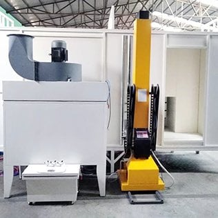 Filter Recovery Powder Coating Booth